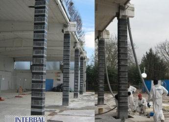Miglioramento sismico al 60% mediante i sistemi CARBOSTRU® C-System M+N+ e SEISMIC SLAB (PATENTED) di un prefabbricato ad uso industriale sito in Medolla (MO).