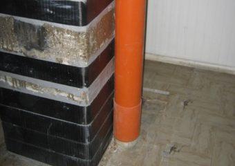 Miglioramento sismico al 60% mediante il sistema CARBOSTRU® C-System M+N+ per i pilastri al piano terra e piano primo del punto vendita COOP Adriatica di Occhibello (RO).