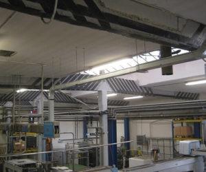 Consolidamento travi di copertura edificio industriale