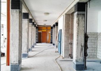 Miglioramento sismico controllato di due corpi dell'Ospedale di Casalpusterlengo, mediante CARBOSTRU® C-System.