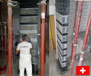 consolidamento pilastri cfrp