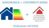Pubblicata l'Ordinanza n. 60/2018 del Commissario Ricostruzione Sisma 2016