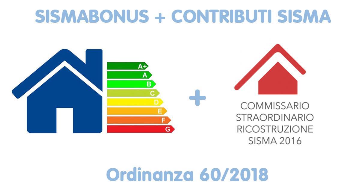 Ordinanza n. 60/2018 del Commissario Ricostruzione Sisma 2016