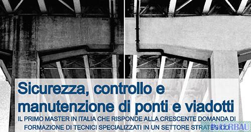 Master di II livello sicurezza, controllo e manutenzione di ponti e viadotti