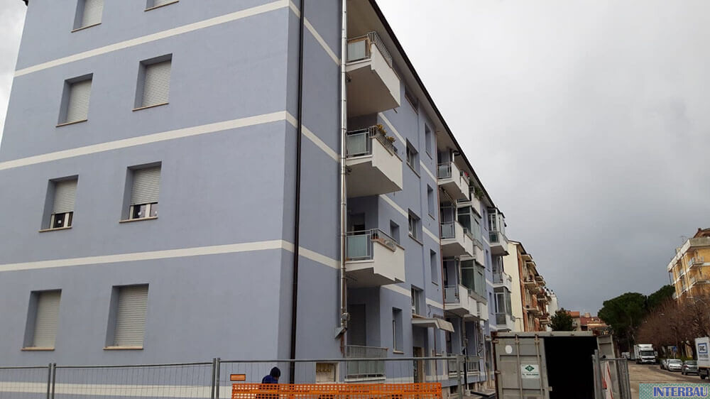 Miglioramento sismico/ Eff. energetico condominio +2 Classi Via Tevere - Teramo